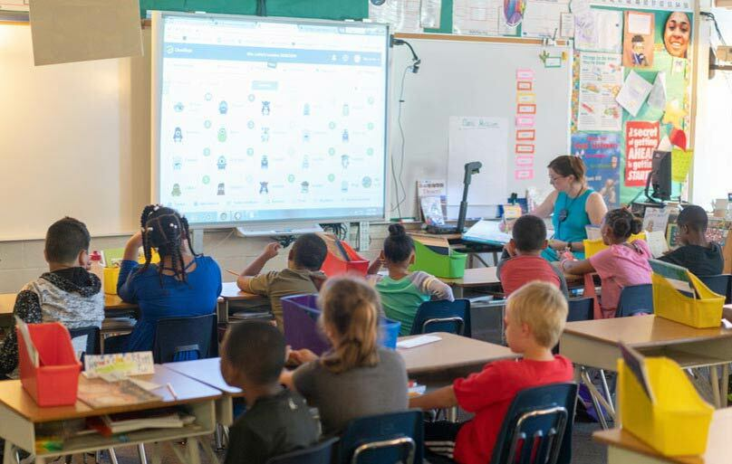 We use smart board technology to provide classroom engaging curriculum