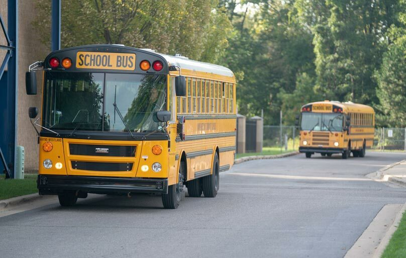 Our District's fleet of 80 buses travels over 1.2 million miles each school year