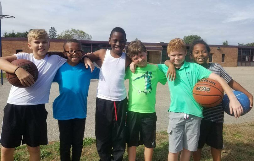 Students bond together during recess