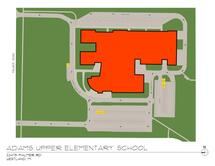 Adams Upper Elementary Traffic Flow Map