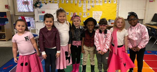 Kinder's 50th day of school 1