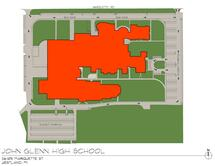 John Glenn High School Traffic Flow Map