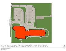 Taft-Galloway Elementary School Traffic Flow Map