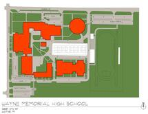 Wayne High School Traffic Flow Map