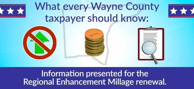 What every Wayne County taxpayer should know: Information presented for the Regional Enhancement Millage renewal.