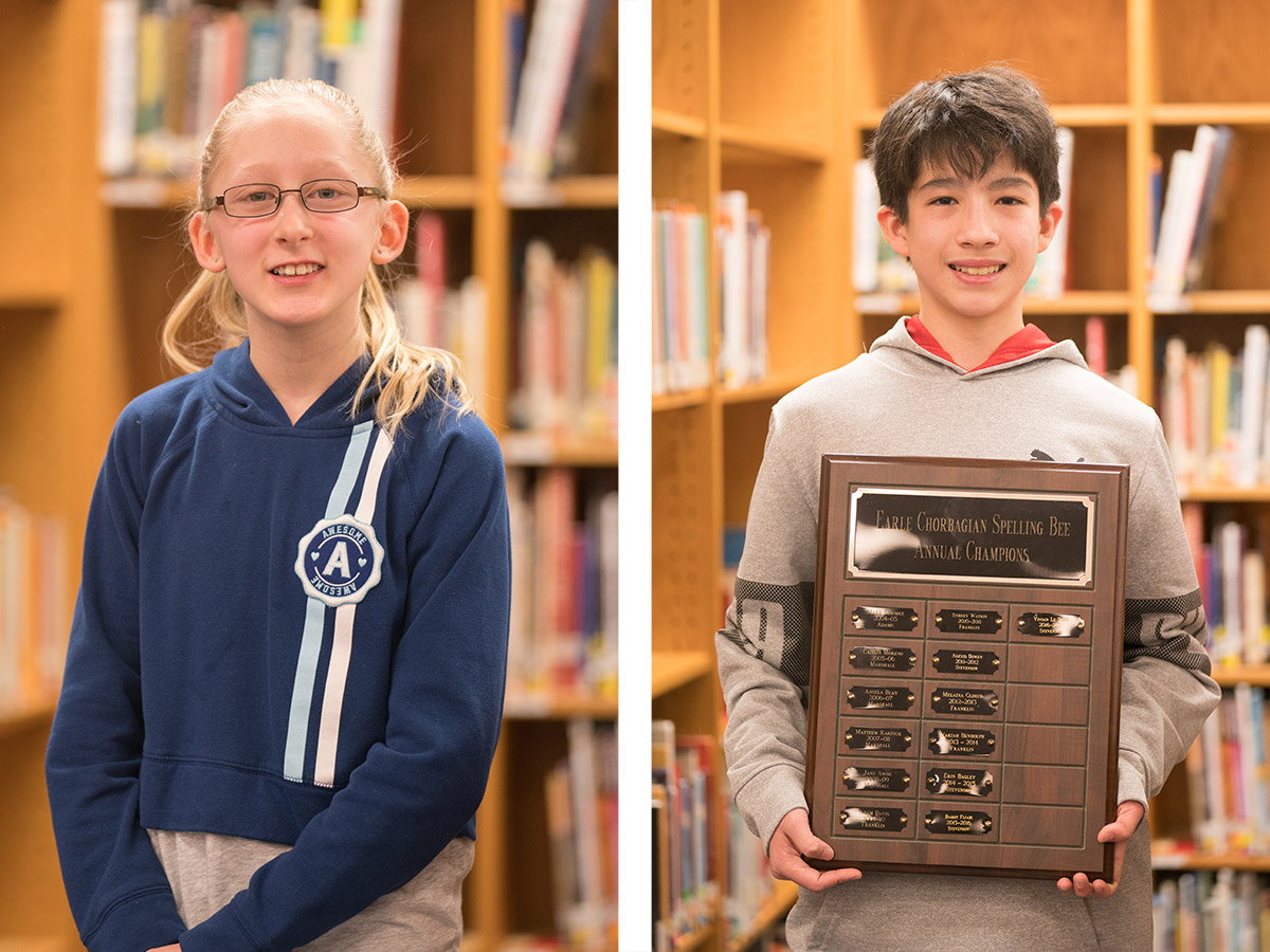 38th Annual Earle Chorbagian Spelling Bee Champions
