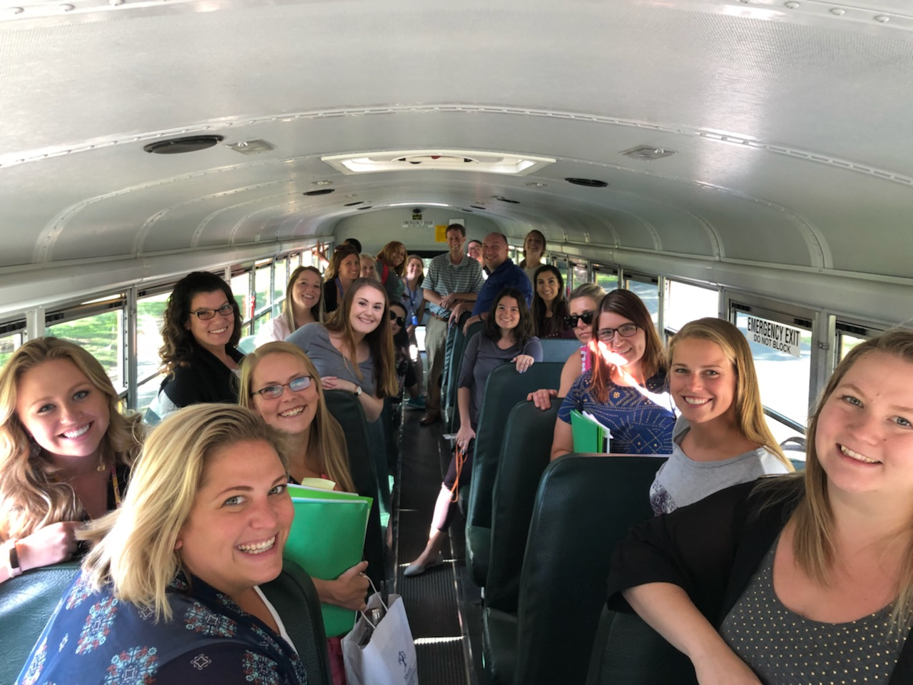New teachers on bus