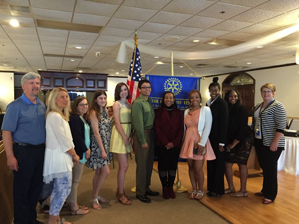 The Westland Rotary Club and North Brothers Ford presented WWCS students with scholarships.