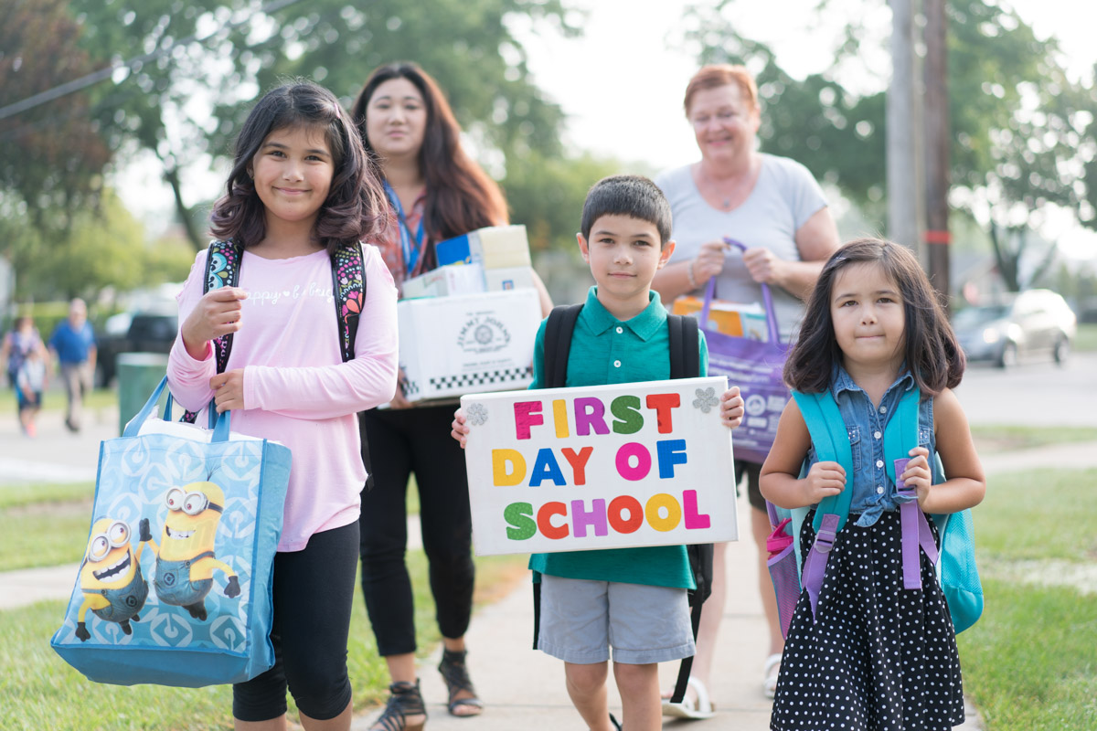 First day of school at Edison Elementary