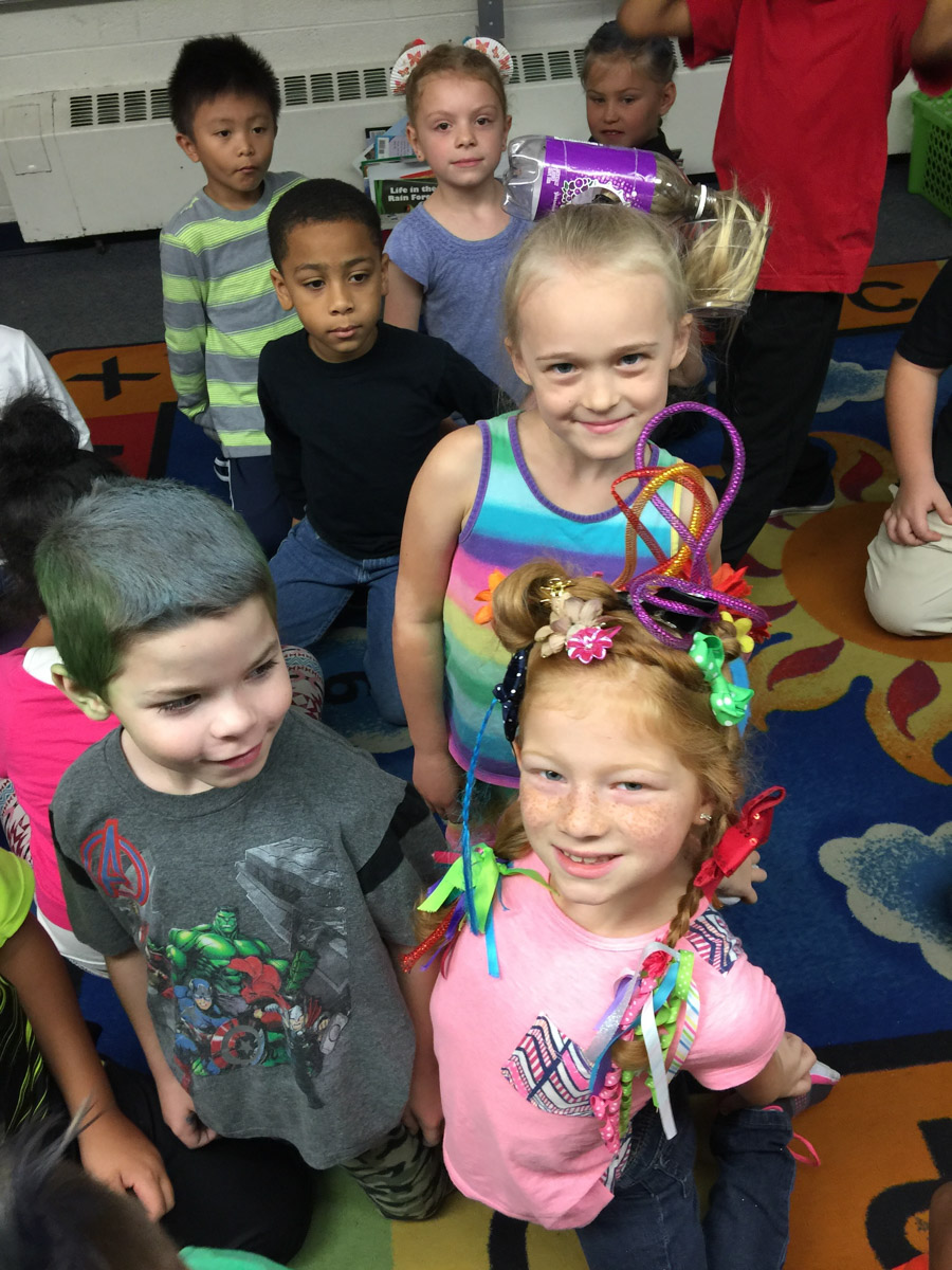 Crazy Hair Day at Edison