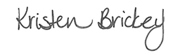 Kristen Brickey's Signature