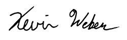 Kevin Weber's Signature