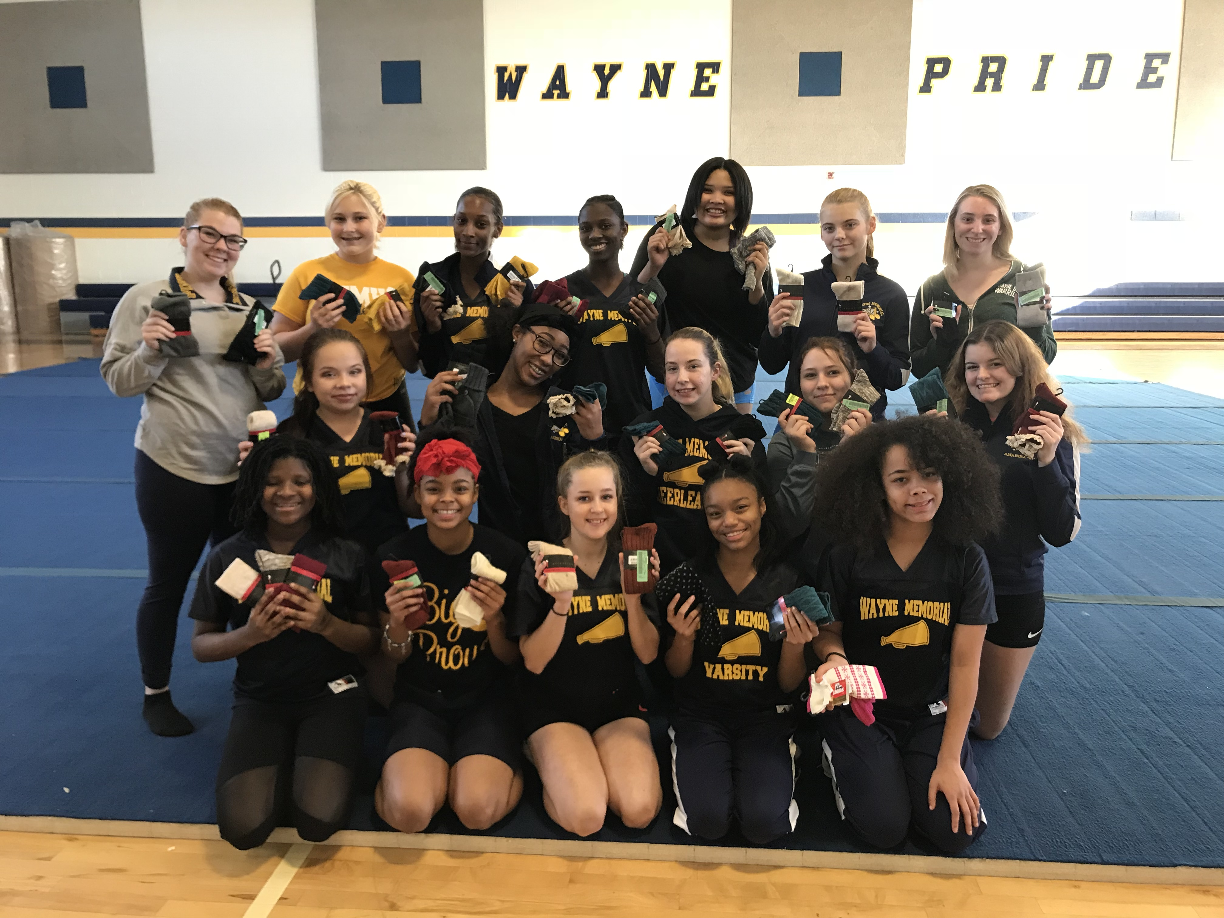 2018-11-21 - Donation from Girls Varsity Cheer team at WMHS