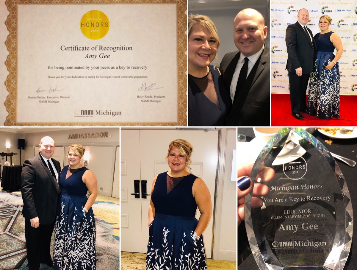 2019-03-16 - DWCMHA nominated our Hicks Elementary Principal Amy Gee for NAMI Award Collage