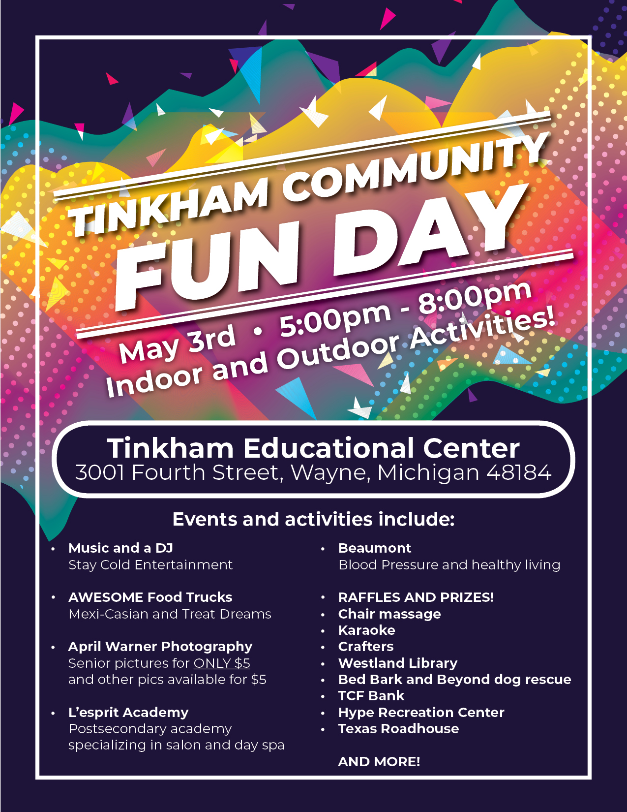 Tinkham Community Fun Day Flyer