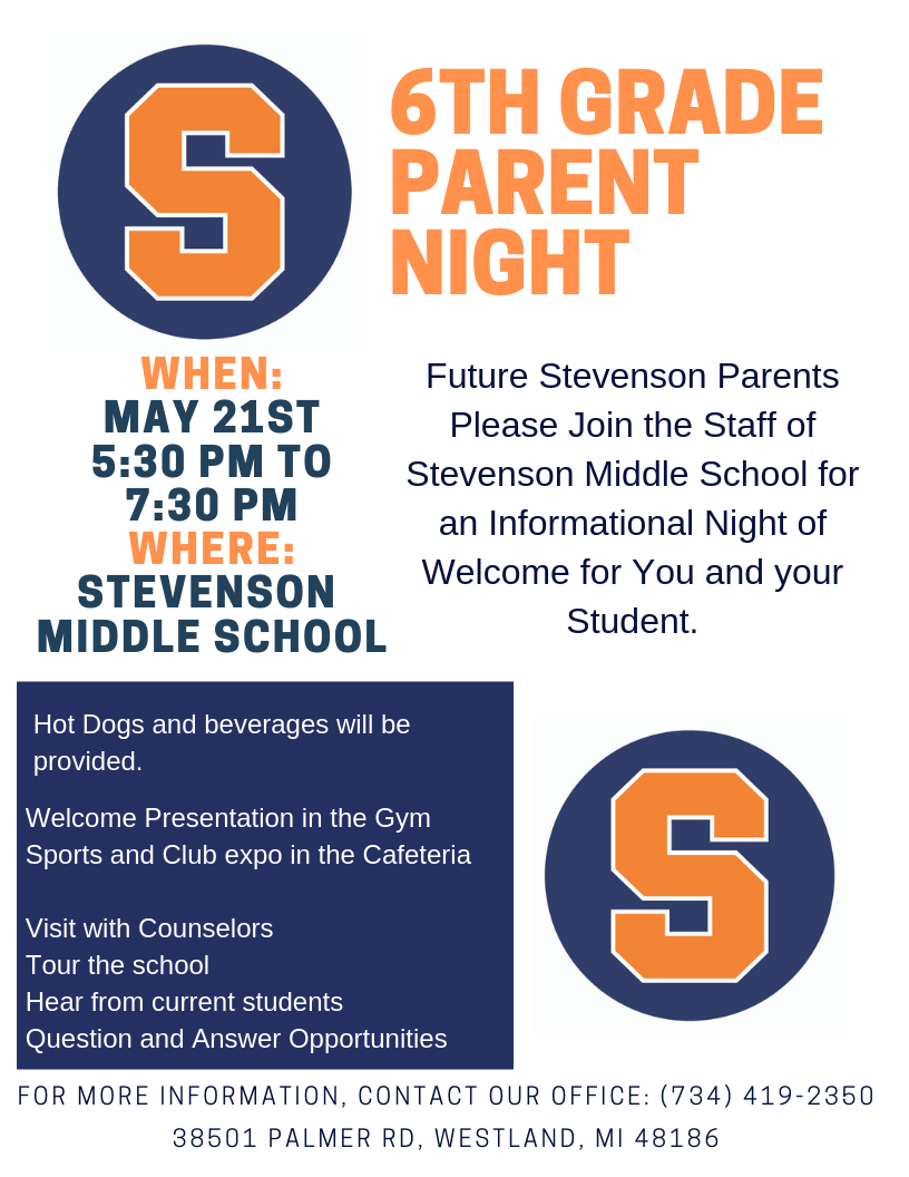 2019-05-21 - SMS - 6th Grade Parent Night Pic