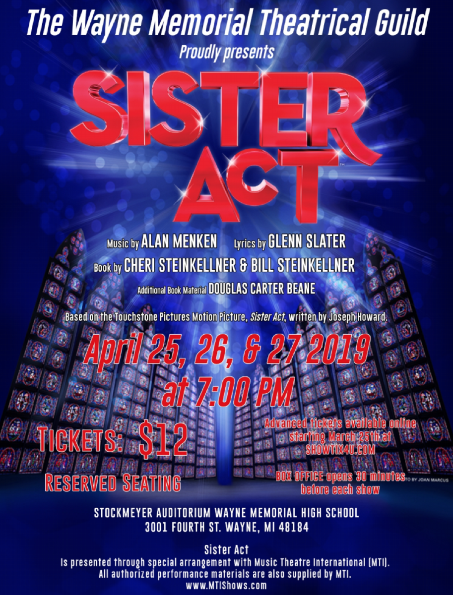 2019 Wayne-Memorial Theatrical Guild Sister Act Play