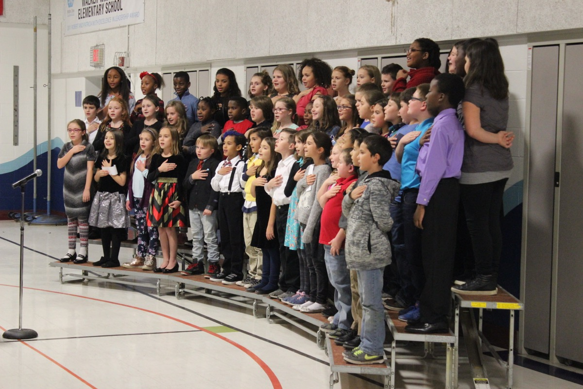 4th grade music concert at Walker-Winter