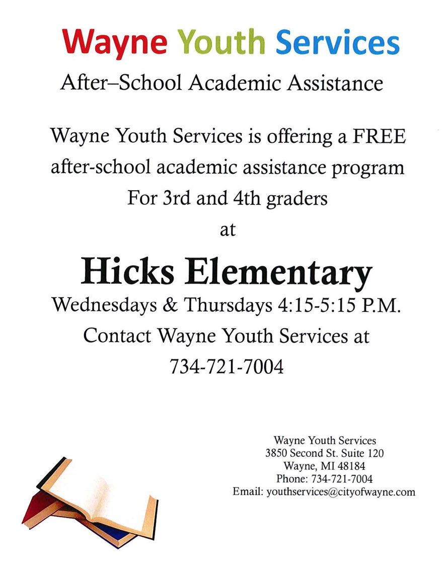 Hicks tutoring flyer