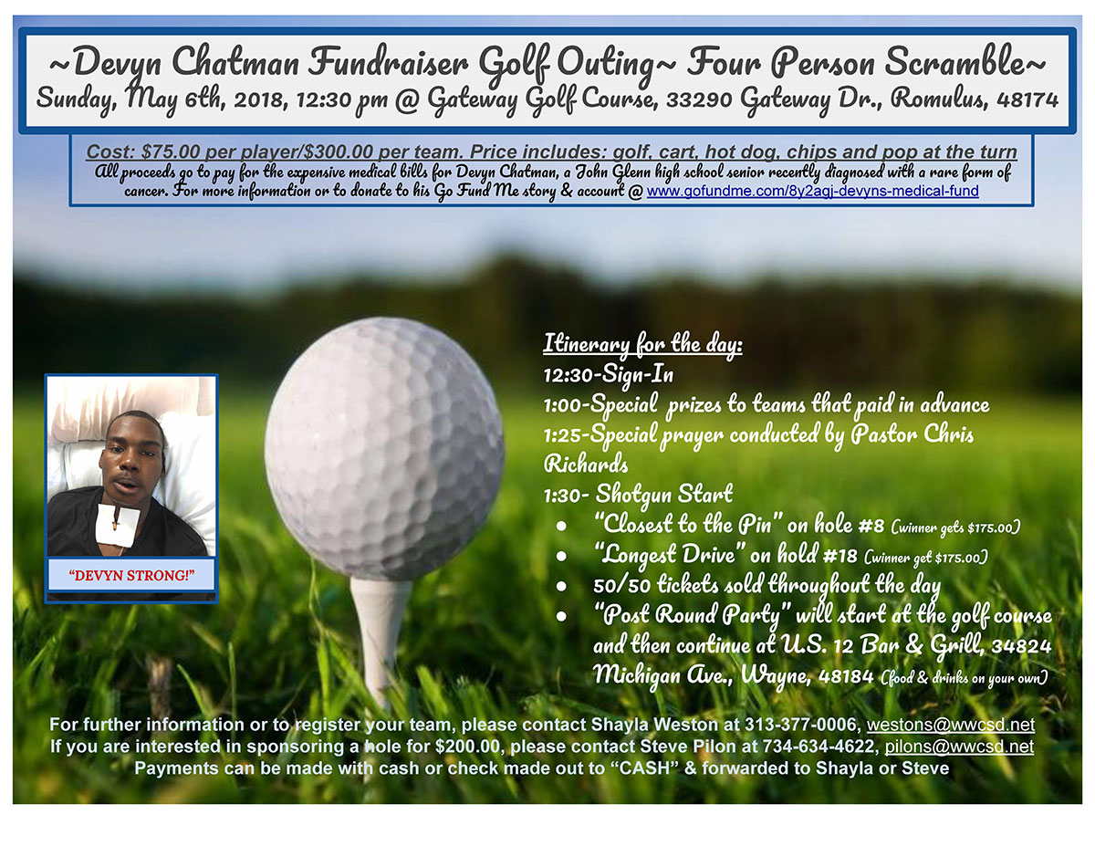 Devyn's Golf Outing flyer
