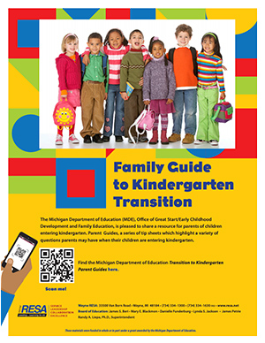 Family Guide to Kindergarten Transition Flyer