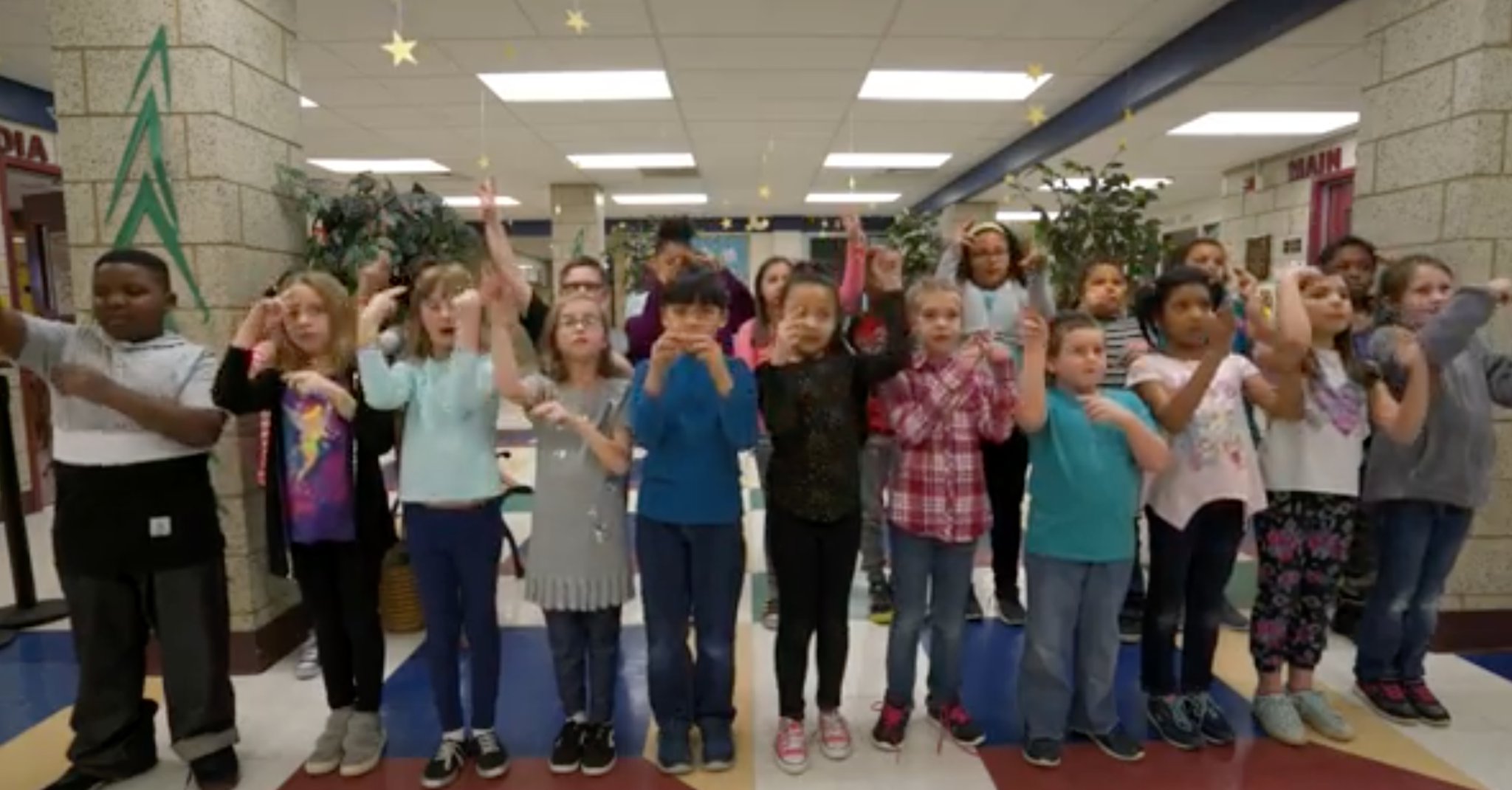 Walker-Winter 3rd graders saying the pledge