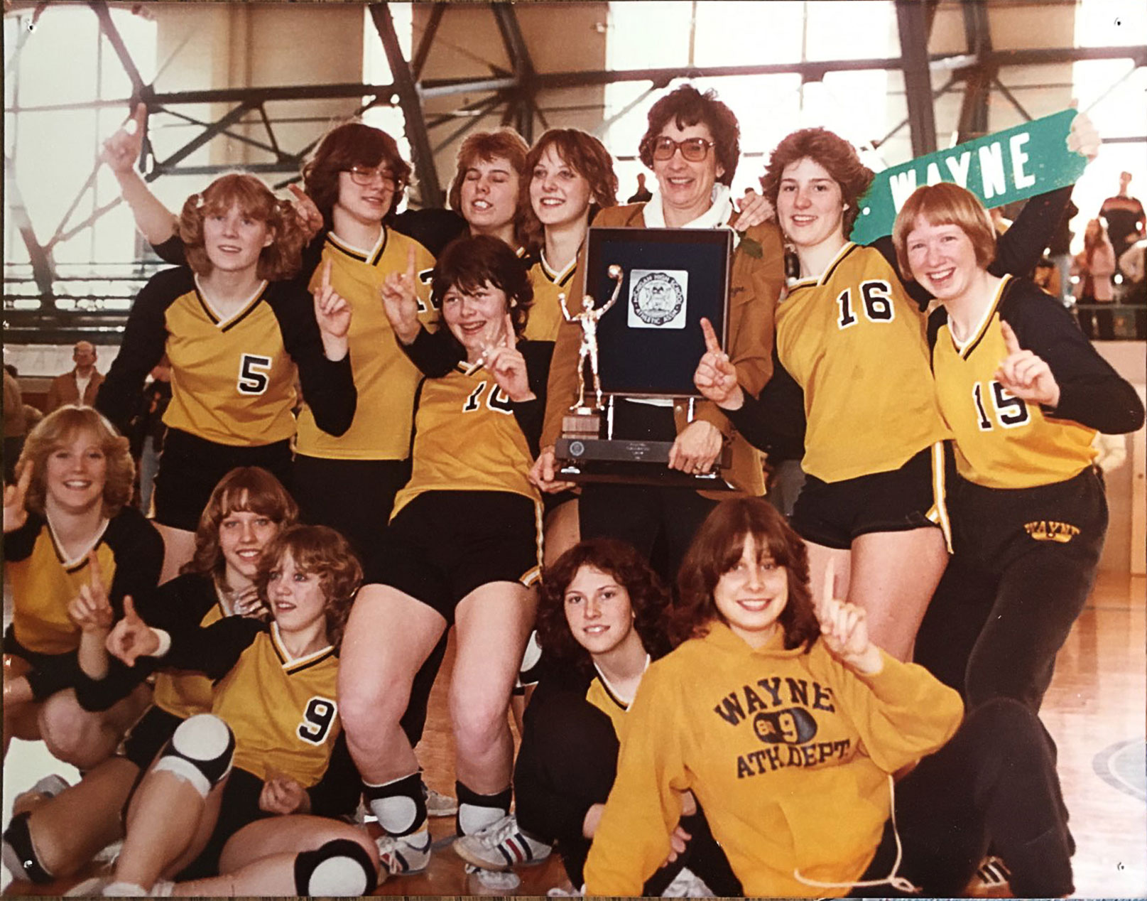 1981 girls volleyball team